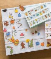 LEDR® Lightbox Handgetekende Feestdagen Emoticons – 60 stuks – Toepasbaar op de A3, A4 & A5 lightbox