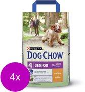 Dog Chow Senior Kip&Rijst - Hondenvoer - 4 x 2.5 kg