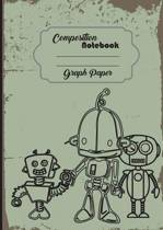 Composition Notebook Graph Paper Grid Robot Toy Scifi Galaxy 8 X 10,120 Page