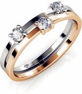 Yolora ring - Swarovski kristal - Goudkleurig - 17.25 mm - Dames - Gladiolus