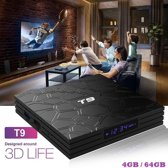 Mediaplayer voor Tv T9 RK3328 4/64 GB Android 8.1 Tv Box / 4K Kodi 18.4 Netflix Bluetooth Keyboard