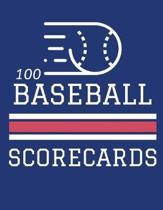 100 Baseball Scorecards: 100 Scoring Sheets For Baseball and Softball Games (8.5x11)