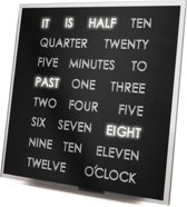 United Entertainment - LED Word Clock - Klok - Vierkant - Aluminium - 19,7x19,7 cm - Aluminium