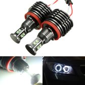 80W LED Angel Eyes Halo Light H8 Bulb Error Free For BMW E92 E93 E63 E70 X5