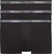 Calvin Klein - Heren 3-Pack Trunk Boxershorts Zwart - S