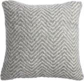 KA Herringbone cushion Grey 40x40