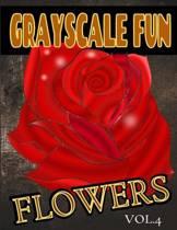 Grayscale Fun Flowers Vol.4