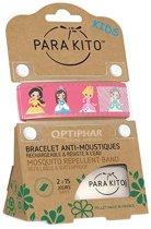 Parakito Kids Anti-Muggen Armband Pink Princesses + 2 navullingen