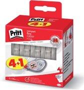 Pritt Correctieroller - Compact formaat - 4+1 gratis - 5x10 Meter - Correctie Roller