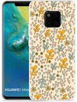 Huawei Mate 20 Pro Hoesje Doodle Flower Pattern
