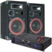 SkyTec DJ PA Luidspreker en Versterker combinatie 700W