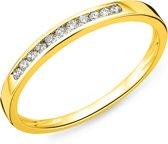 Majestine Alliance - Ring - 14 Karaat (585) - Geelgoud Met Diamant 0.10ct
