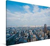 De Japanse stad van Osaka in de ochtend Canvas 90x60 cm - Foto print op Canvas schilderij (Wanddecoratie woonkamer / slaapkamer)