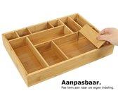 Bamboe bestekbak voor keukenla – Bestek organizer van hoogwaardig bamboe hout – Bestekcassette van Decopatent®