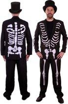 Skeleton / skelet kostuum voor heer