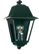 Buiten wandlamp plat - Venezia - Antiek groen