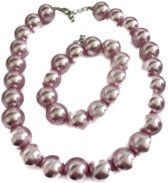 Petra's Sieradenwereld - Parelset roze (ketting en armband) (8)