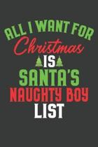 All I Want For Christmas Is Santa's Naughty Boy List