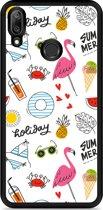 Huawei Y7 2019 Hardcase hoesje Summer Flamingo