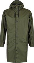 Rains Long Jacket 1202 Regenjas - Unisex - Green