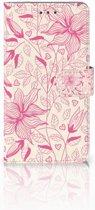 Huawei Honor 5X Uniek Boekhoesje Pink Flowers