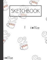 Sketchbook: Coffee 200 Page Sketchbook: Artist Edition (8.5x11)