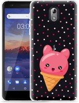 Nokia 3.1 Hoesje Ice cone