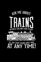 Ask me about trains: 6x9 Trains - dotgrid - dot grid paper - notebook - notes