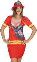 Brandweer verkleed shirt voor dames XS/S (34-36)