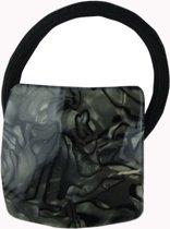 Jessidress Elastiekje Dames Haar Elastiek met marbel textuur - Zwart