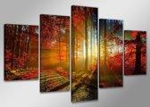 Dawn - Canvas Schilderij Vijfluik 160 x 80 cm