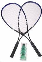 Amigo Speed Badmintonset Blauw 8-delig