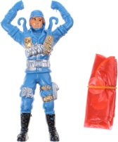 Toi-toys Parachutespringer Soldaat Blauw 11 Cm