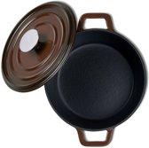 Kustaa gietijzeren braadpan, 2.4 Ltr, 20cm rond bruin