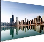 Chicago skyline Aluminium 60x40 cm - Foto print op Aluminium (metaal wanddecoratie)