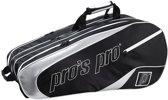 Pro's Pro 12-Racketbag Zwart-zilver L111 tennistas