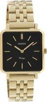 OOZOO Vintage C9957 Goudkleurig Zwart Horloge 29x29mm