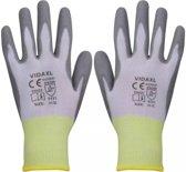 vidaXL Werkhandschoenen PU 24 paar wit en grijs maat 10/XL