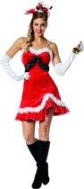 Kerst & Oud & Nieuw Kostuum   Pikant Kerstvrouwtje Kostuum   Maat 38   Kerst   Verkleedkleding