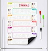 CKB Ltd® Weekplanner Meertalig - magnetisch Whiteboard koelkast