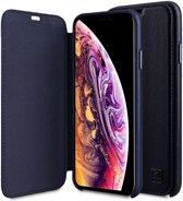 Melkco Origin Apple iPhone XR Book Case Echt Leer Blauw