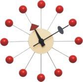 Design wandklok Ball Klok rood