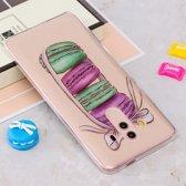 Let op type!! Voor Huawei Mate 10 Pro IMD Macarons patroon duidelijk TPU beschermende terug softcase