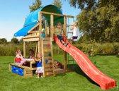 Jungle Gym – Villa Mini Picnic 160 - Klimtoestel - Met Glijbaan - Rood