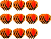 10 Sets (30 stuks) Stevige XS100 Vista - flights - Multipack - Oranje