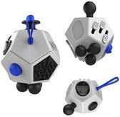 Fidget Cube XL | Wit - Blauw - Zwart| Pride Kings