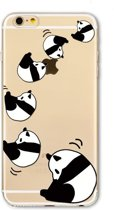 iPhone XS Max (6,5 inch) - hoes, cover, case - TPU - Transparant - Panda