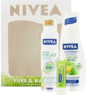 Nivea Pure & Naturel Geschenkset - 250 ml - Bodymilk