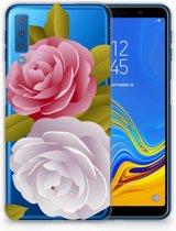 TPU Siliconen Backcase Samsung A7 (2018) Roses