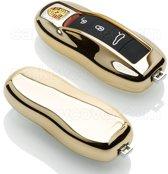 Porsche SleutelCover - Goud / TPU sleutelhoesje / beschermhoesje autosleutel